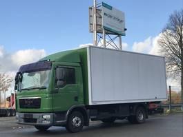 bakwagen vrachtwagen MAN TGL 12.220 FL Koffer + LBW Alukoffer 5,5 m mit Seitentür 2011