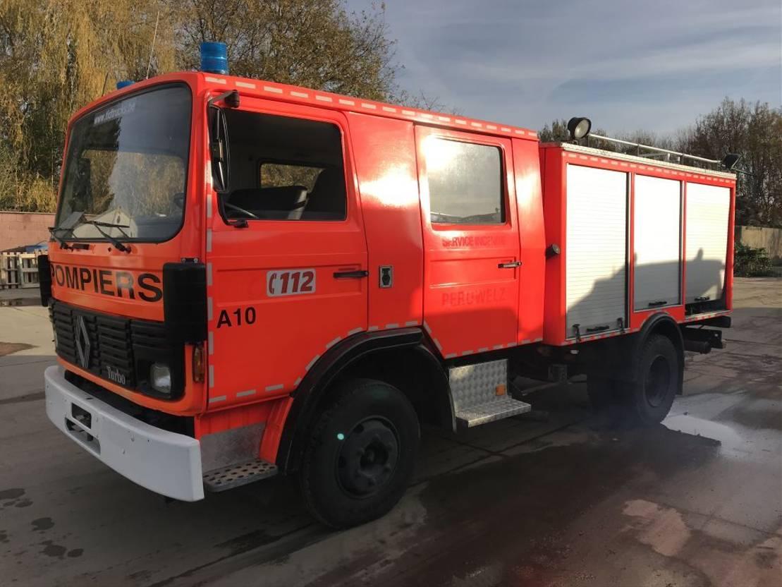 brandweerwagen vrachtwagen Renault JN95 **FIRETRUCK-POMPIER** 1986