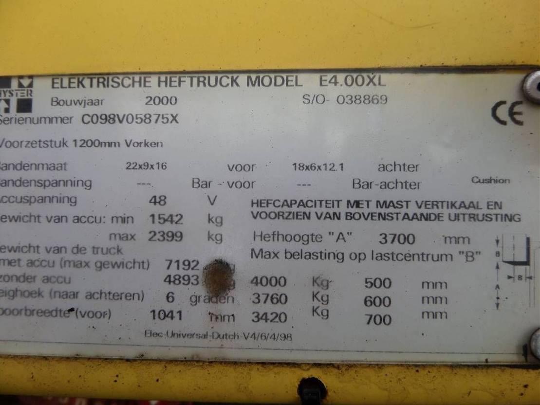 vorkheftruck Hyster E 4.00 XL 2000