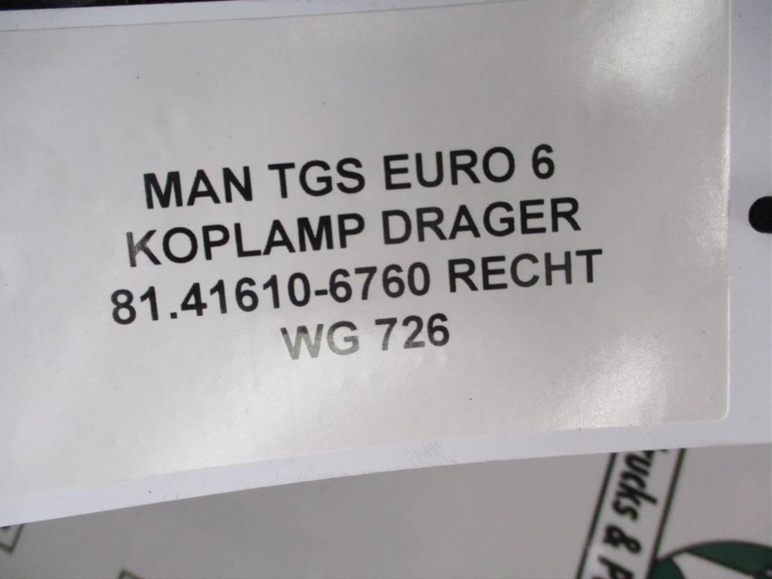 Koplamp vrachtwagen onderdeel MAN TGS 81.41610-6760 KOPLAMP DRAGER RECHTS EURO 6
