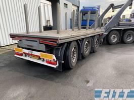 platte aanhanger vrachtwagen HWD H&W 3 ass ballast aanhanger, liftas, stuuras 2015