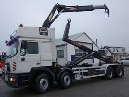 containersysteem vrachtwagen MAN 35-463 8x4 16 ton kraan en haaksysteem 1999