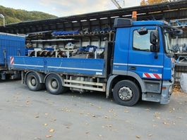 platform vrachtwagen Mercedes-Benz Actros 2655 L 6x4 Pritsche V8 engine, Blatt/Luft 2010