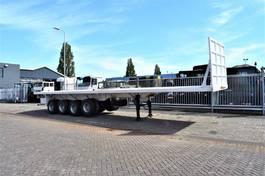 platte oplegger TM H flatbed 65 tons payload, 4 x BPW leaf spring suspensi 2020
