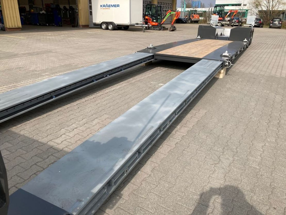 semi dieplader oplegger Faymonville Maxtrailer 2-Achs-Tiefbett mit Pendelachsen