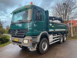 kipper vrachtwagen > 7.5 t Mercedes-Benz ACTROS 3341 AK 6x6 2 zijdige kipper met afneembare Hiab 122 D-2 duo kraan 2009
