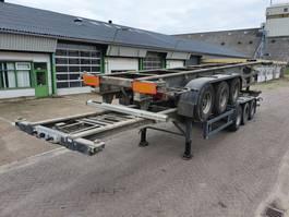 container chassis oplegger Benalu ALUMINIUM - 3580KG - Disc brakes - Lifting axles 2001