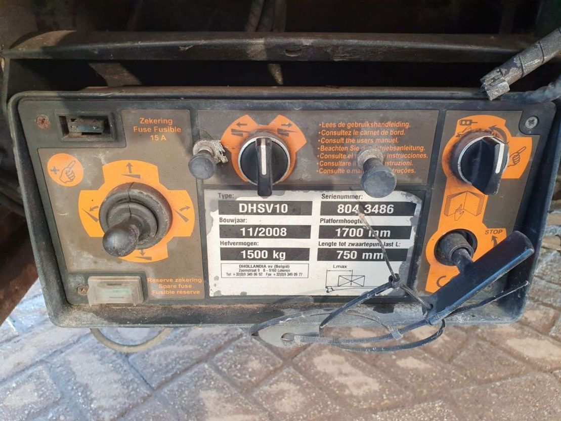 semi dieplader oplegger Desot Semi met huif 1993