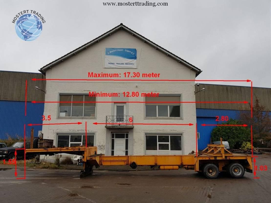 semi dieplader oplegger Goldhofer 5 Meter Extendable! 1993