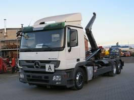 containersysteem vrachtwagen Mercedes-Benz Actros 2541 L6x2 Abrollkipper Meiller RK 20.70 2009