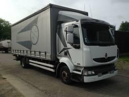 schuifzeil vrachtwagen Renault midlum 220 2 diesel tanks very good state