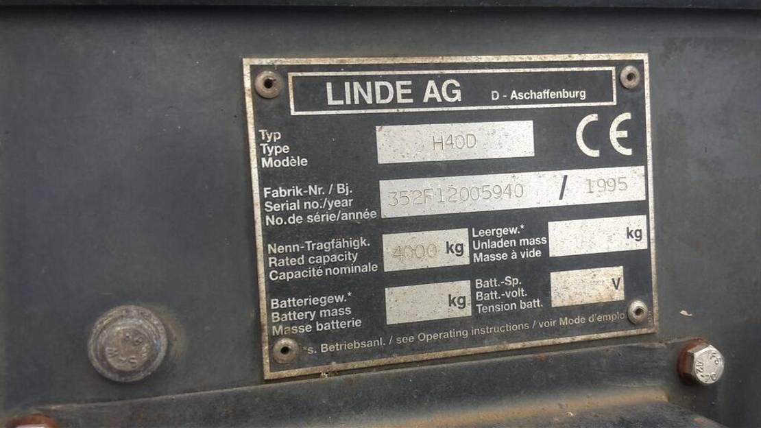 vorkheftruck Linde heftruck 1995