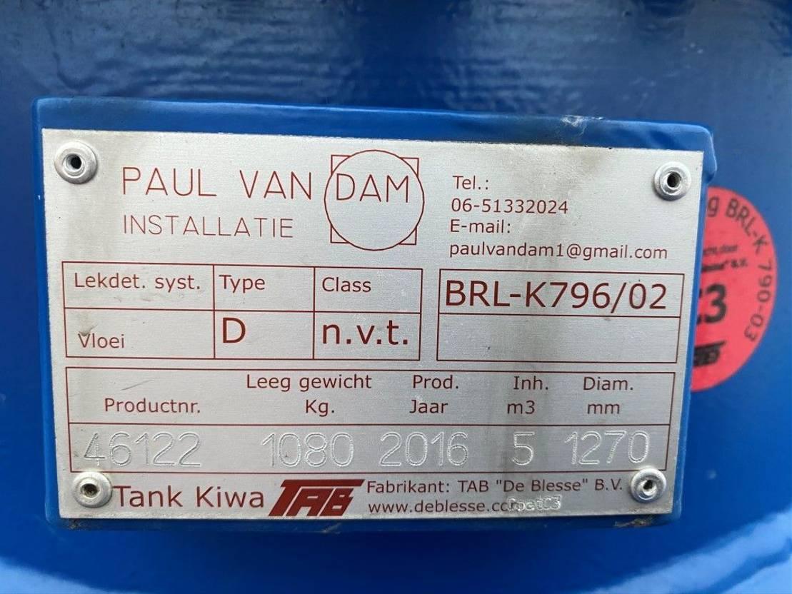 IBC-intermediate bulk container Kiwa IBC Paul van Dam 5000 liter dieseltank 2016
