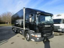 verkoop opbouw vrachtwagen Scania P320 Getränke-Schwenkwand 7,3 m LBW BÄR 2 T*Lenk 2015