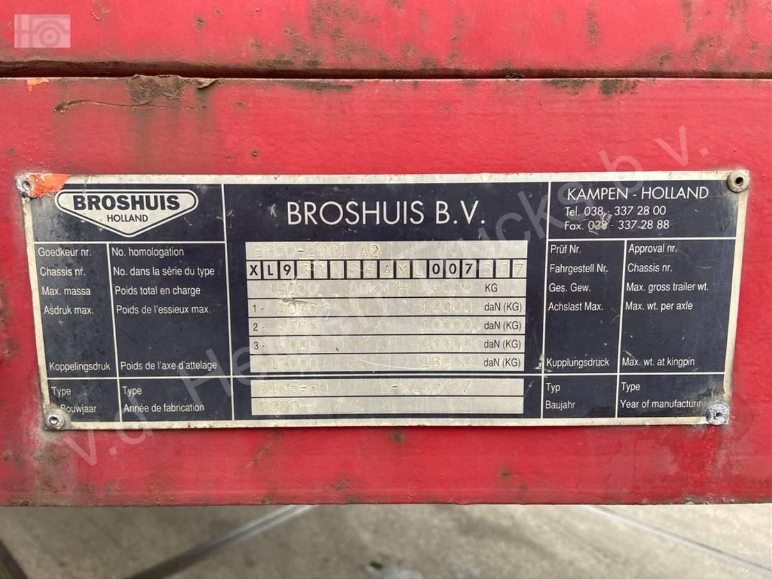 semi dieplader oplegger Broshuis 31N5-EU | 3x SAF | 6.3m Extendable 2000