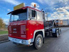 containersysteem vrachtwagen Scania Scania 140 6x2 haakarm Belastingvrij 1972