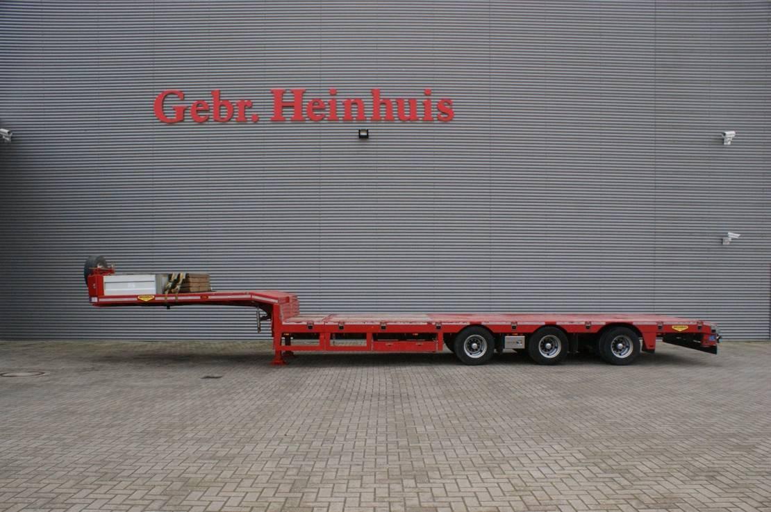 semi dieplader oplegger Broshuis 3AOU-23-36SL 6.4 M extandable SLair axles! 2017