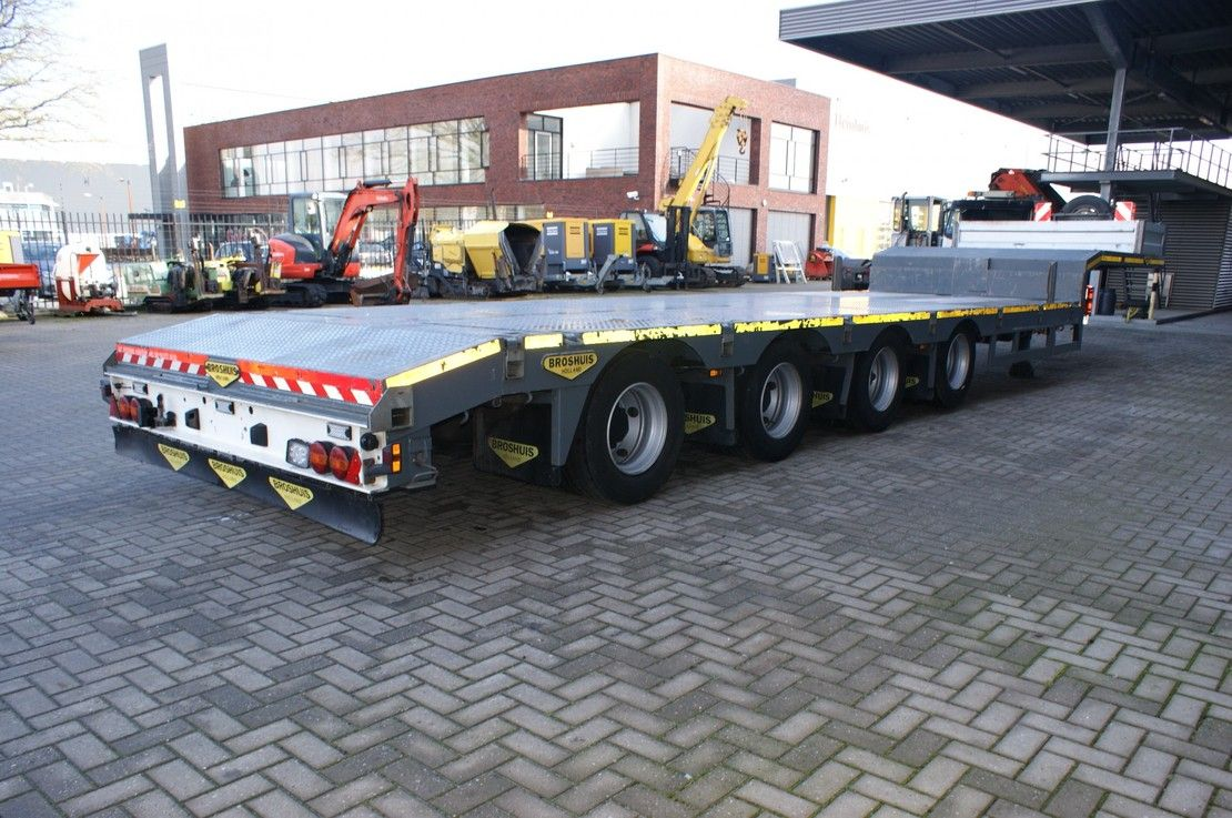 semi dieplader oplegger Broshuis 4AOU-16-40 Liftaxle 6.4 M extandable! 2016