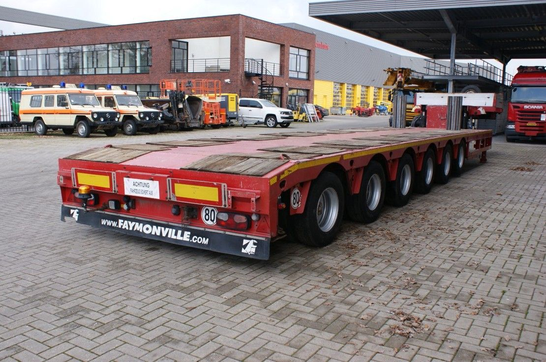 semi dieplader oplegger Faymonville STZ-6WA 8.5 M Extandable Powersteering 2 Liftaxles! 2009