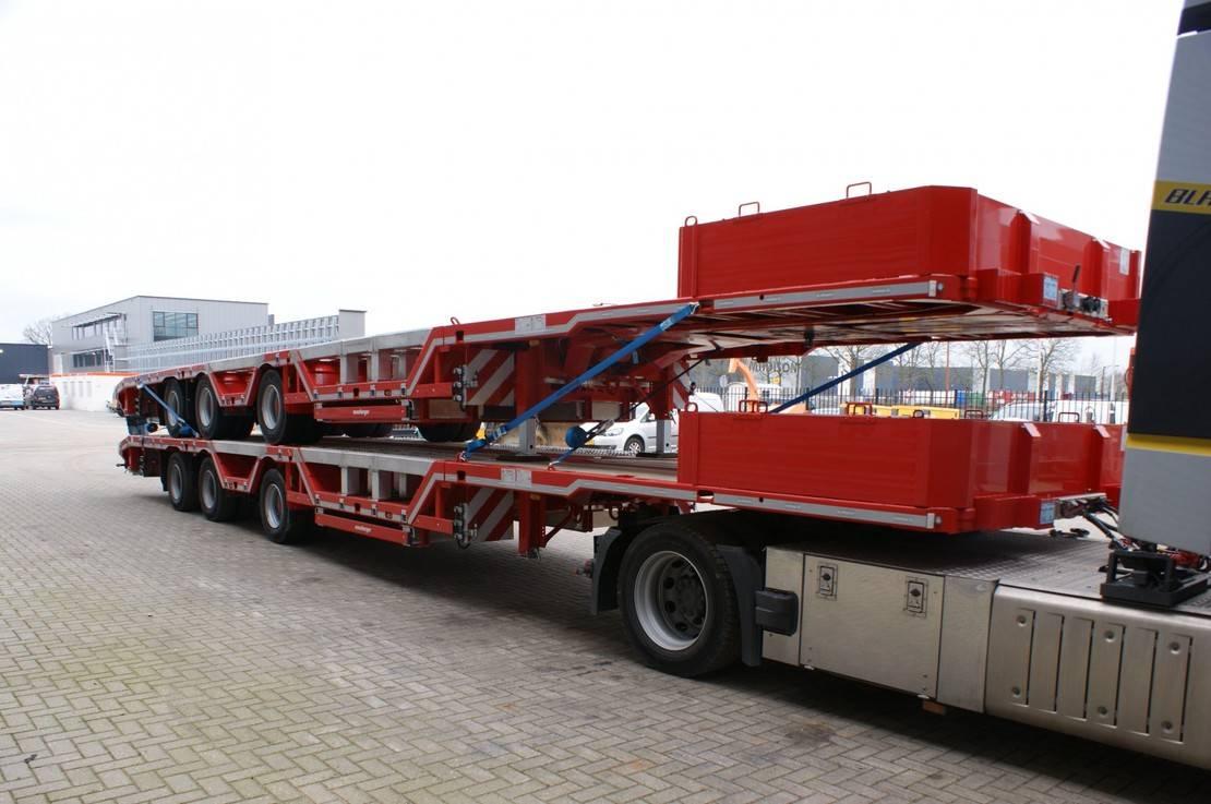 semi dieplader oplegger Meusburger MPS-3 7 M Extandable Radmulden Liftaxle MEGA NEW! 2020