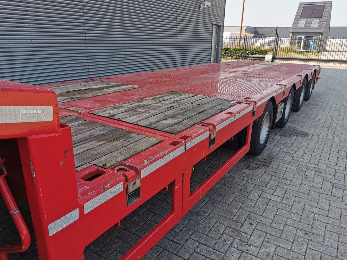 semi dieplader oplegger Broshuis 4SLA 6.5 M Extandable SLair axles! 2017