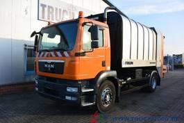 vuilniswagen vrachtwagen MAN TGM 18.250BL Faun Rotopress 516 Zöller Schüttung 2010