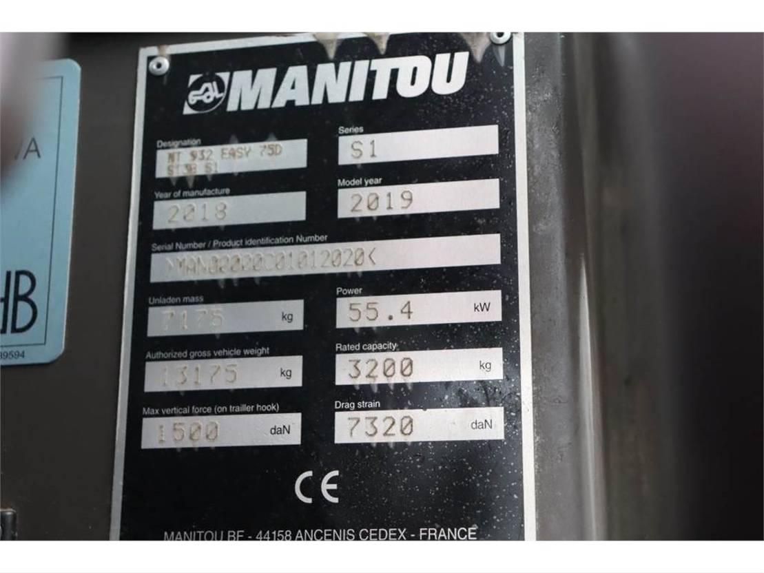 starre verreiker Manitou MT932 EASY 75D Valid inspection, *Guarantee! 4x4x4 2018