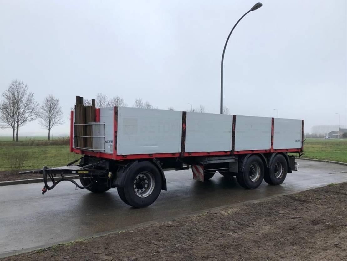 platte aanhanger vrachtwagen Kel-Berg kelberg 3 assige aanhanger 3 asser met alu borden 2014