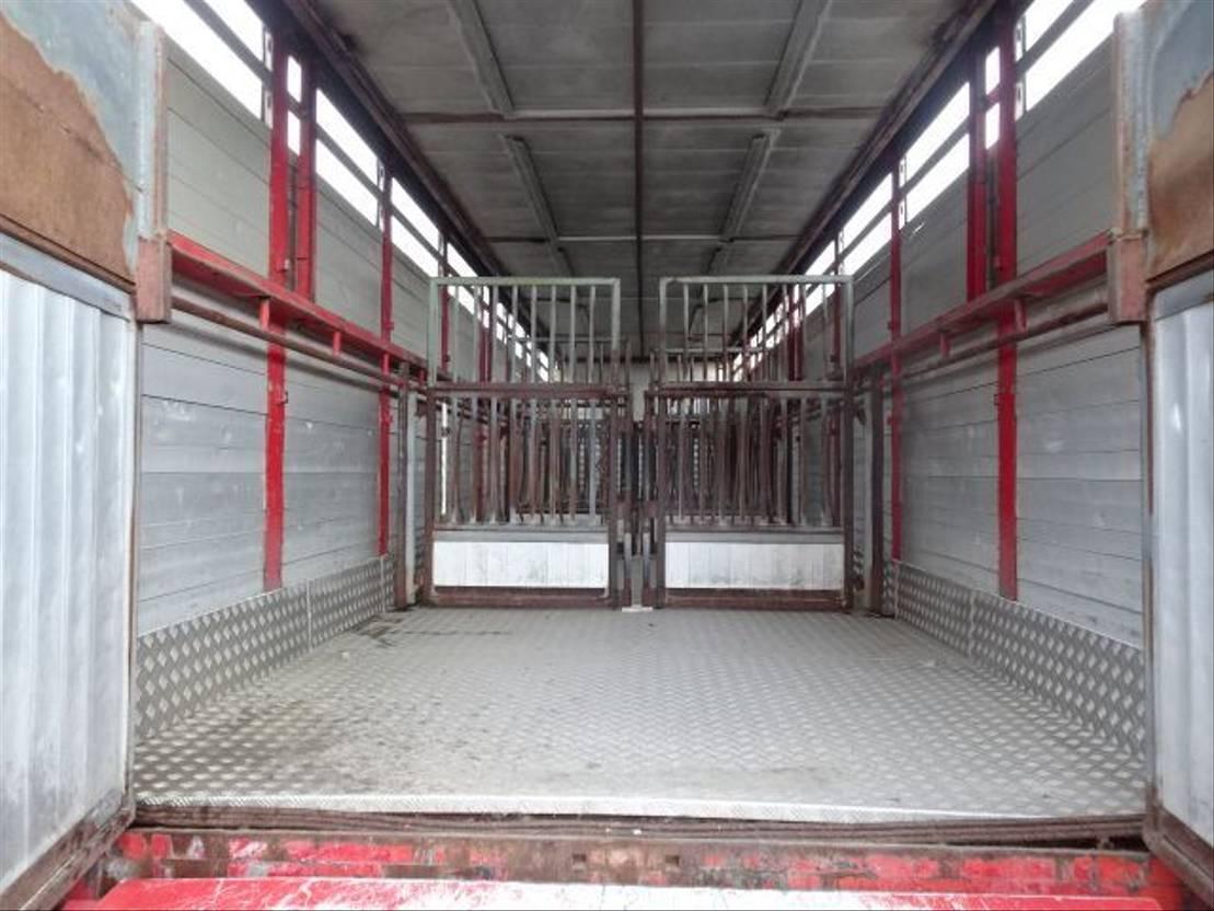 vee oplegger Pacton 1 deck livestock trailer - 2 axle - Steering axle - 1988