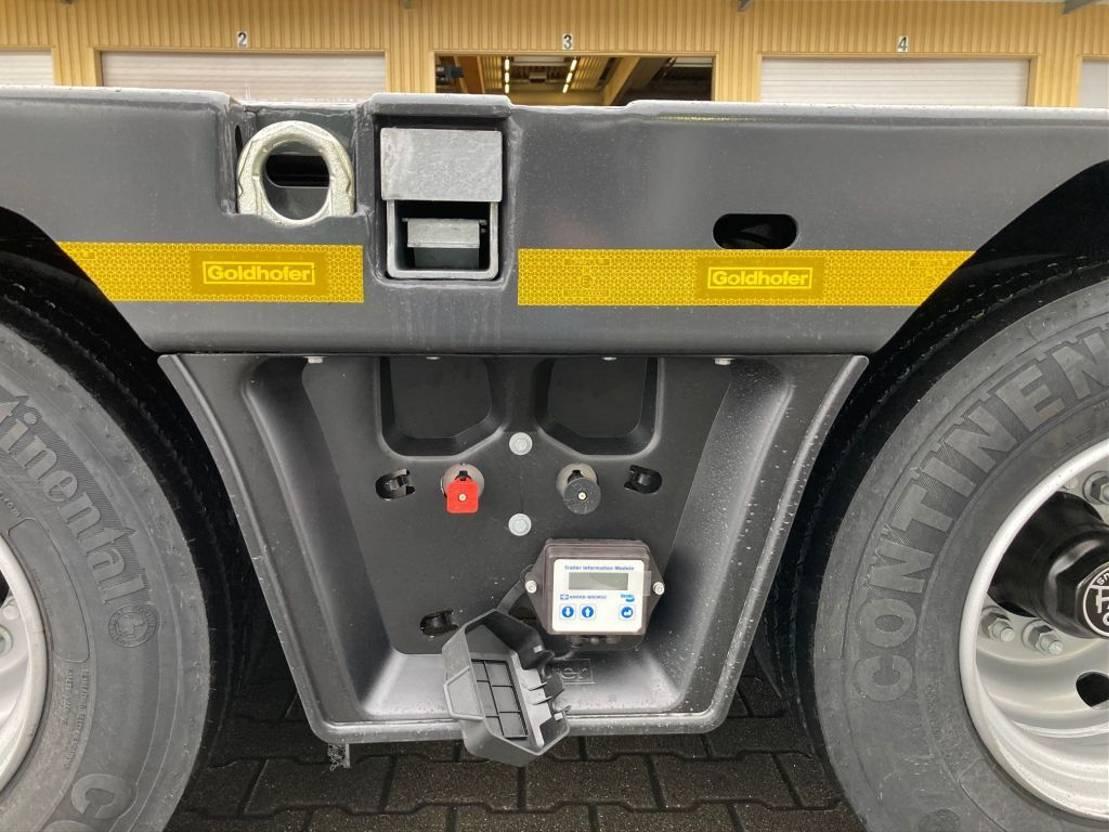 semi dieplader oplegger Goldhofer 3-Achs-Tele-Semi Stepstar