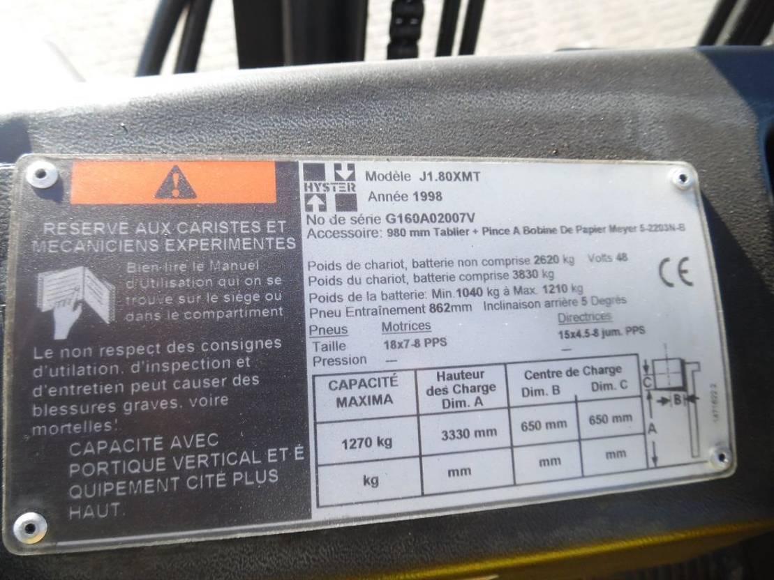 vorkheftruck Hyster Heftruck j 1.80 xmt