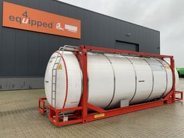 tankcontainer Van Hool 33.966L / 2-comp (26.467L+7.499L), L4BN, IMO-4, 5y inspection: 06/2023 2000
