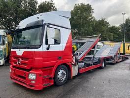 autotransporter vrachtwagen Mercedes-Benz ACTROS 1836 4X2 TRUCKTRANSPORTER + LOHR 2 AS AANHANGWAGEN 2011 2011