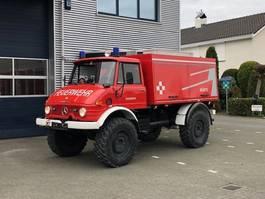 brandweerwagen vrachtwagen Unimog U416 Brandweer snelle assen 125 PK Topstaat! 1984