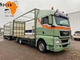 open laadbak vrachtwagen MAN TGX 26.400 6X2 Floor Aanhanger -> Pluimvee/Geflügel /Chicken transport 2011