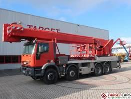autohoogwerker vrachtwagen Multitel Iveco 8x4 truck w/ Multitel J352TA Telescopic Boom Work Lift 5200cm 2004