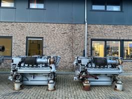 industriële motor MTU 12 V 2000 M60 600 kW 8016 PK Marine diesel motor as New ! 2010