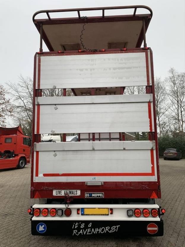 platte aanhanger vrachtwagen GS AV-2000 Platteau, BPW 10 tons assen, LED, Top conditie 2014