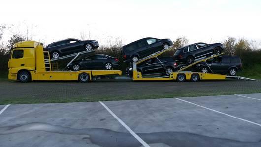 autotransporter vrachtwagen Mercedes-Benz Actros 1840LL 4x2 + Tijhof TA16004 6-lader 2020