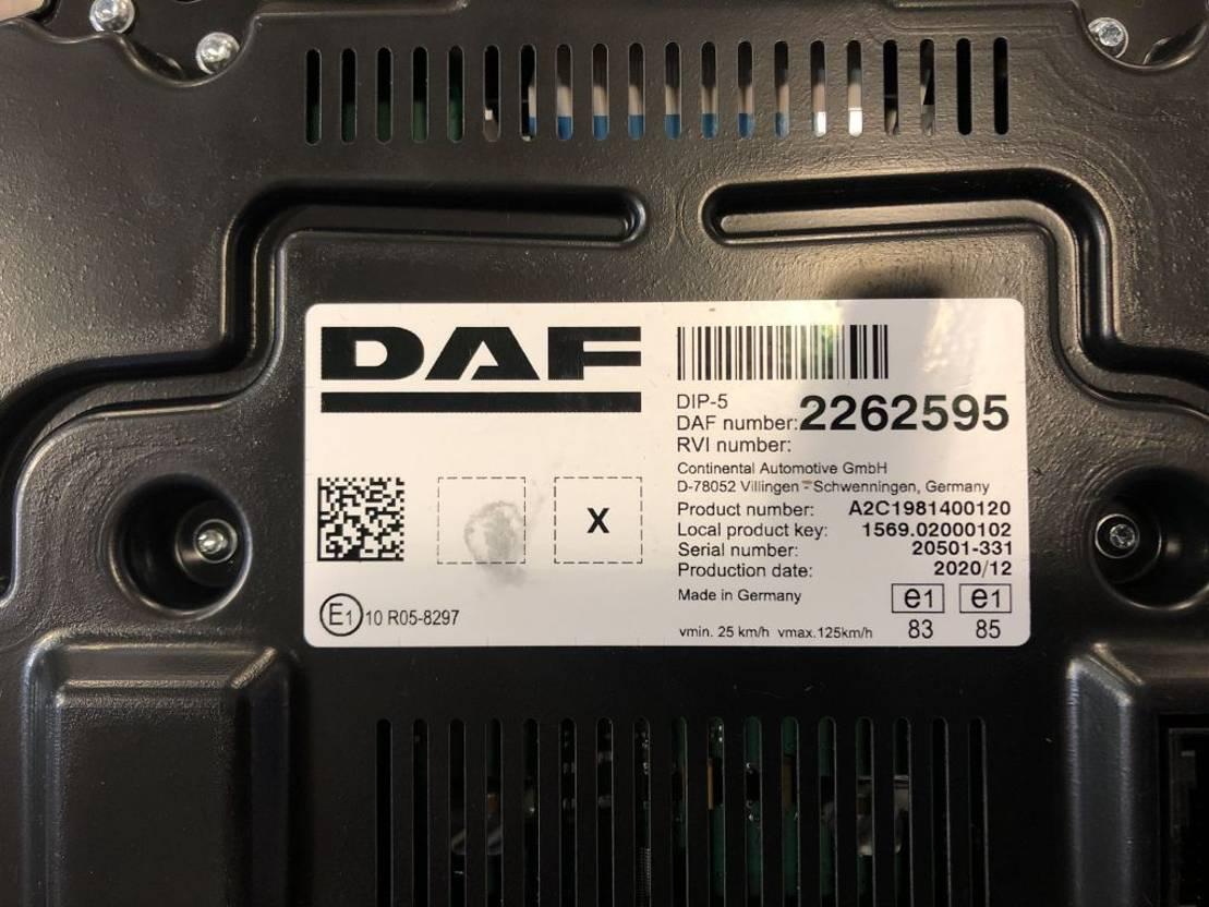 Elektra vrachtwagen onderdeel DAF XF / CF euro 6 2017