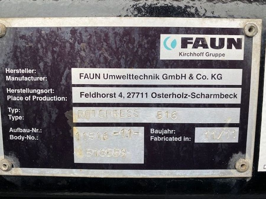 Mercedes-Benz - AXOR 1833 L Müllwagen FAUN ROTCPRESS 516 22