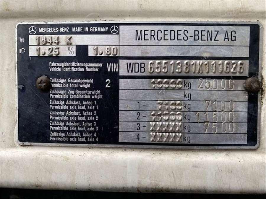 Mercedes-Benz - SK 1844 L 6x2 Tollense 10000 ltr Saugwagen Kanalreinigung/Kipper 18