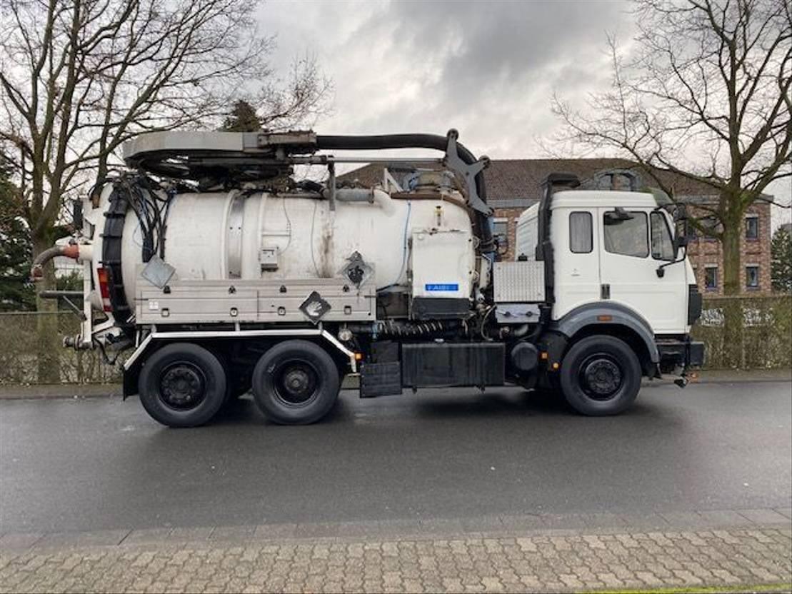 kolkenzuiger vrachtwagen Mercedes-Benz SK 1844 L 6x2 Tollense 10000 ltr Saugwagen Kanalreinigung/Kipper 1995