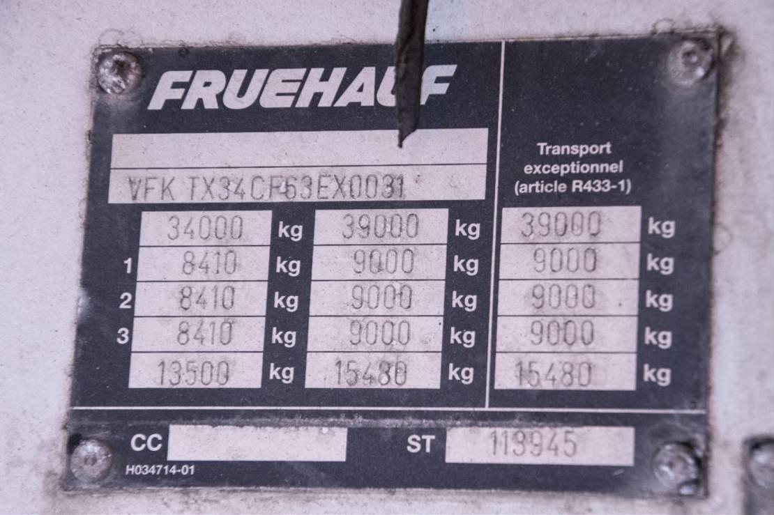 huifzeil oplegger Fruehauf TX 34CF-BACHE 2006