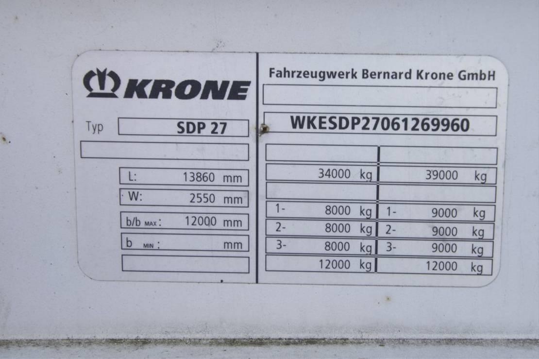 huifzeil oplegger Krone SDP 27- BACHE 2006