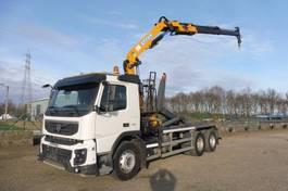 containersysteem vrachtwagen Volvo FMX 450 - 6x4 - EURO 5 - I_SHIFT - LAADRAAN EFFER 13 T/M + CONTAINERHAAK -