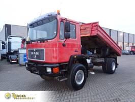 kipper vrachtwagen > 7.5 t MAN 17-192 + Manual + Kipper Pto + 4X4 1998