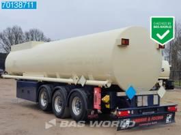 tankoplegger Lindner & Fischer TSA 36 LTD 3 axles 34.350 Ltr. Fuel Benzin Pump Counter ADR 2x Liftachse 2009