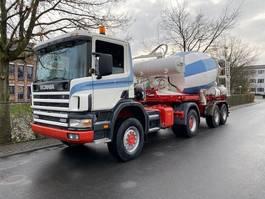 standaard trekker Scania 124C 420/4X4/ Mit Betonmischer Liebherr 10 m3 Komplettzug 2001