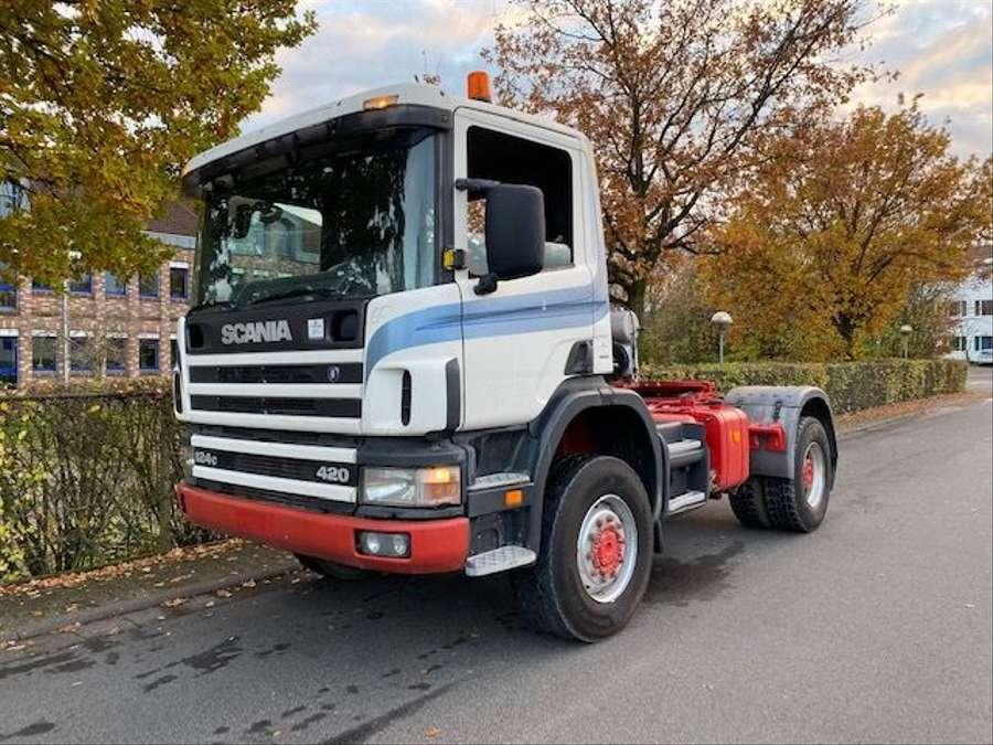 Scania - 124C 420/4X4/ Mit Betonmischer Liebherr 10 m3 Komplettzug 1